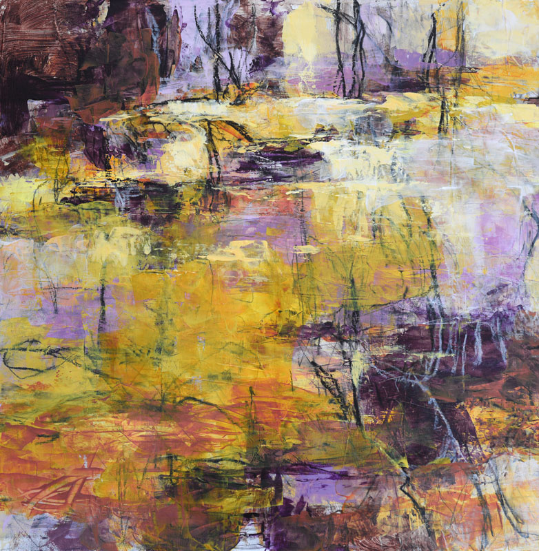 abstract landscape painting Early Fall by Melody Cleary