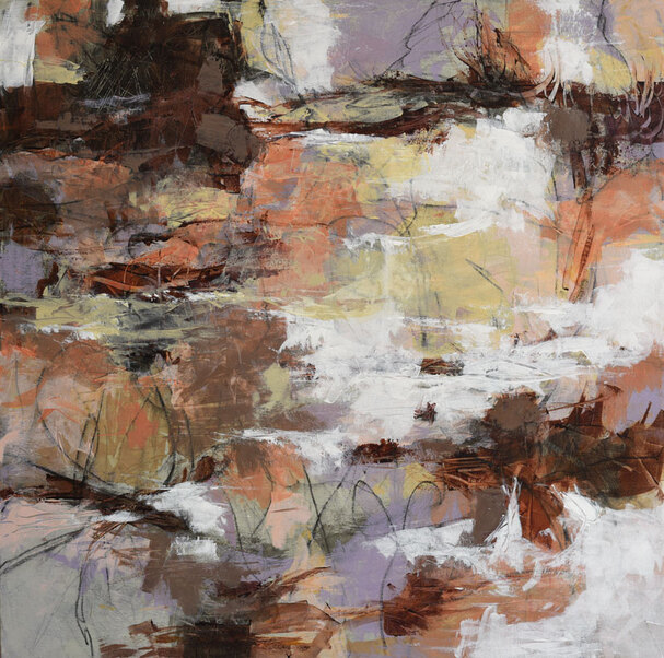 contemporary abstracted landscape painting