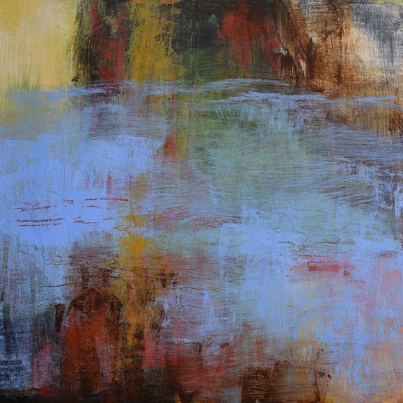 Abstract nature water painting Melody Cleary